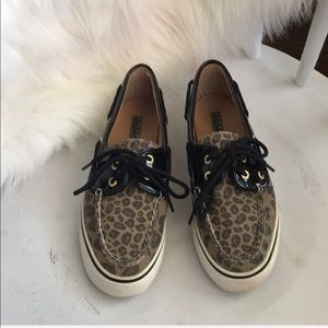 Sperry Top-sider leopard print boat slip-on shoes
